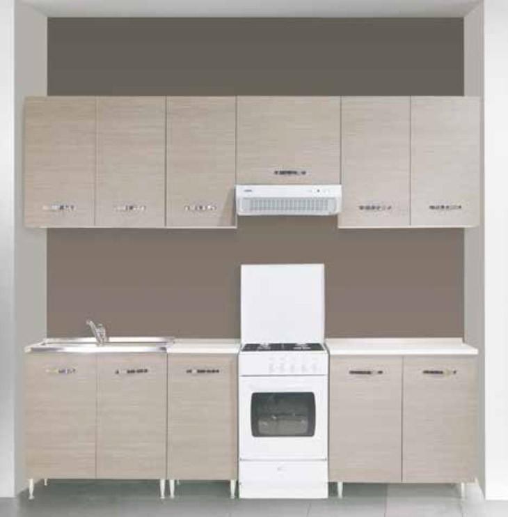 sottolavello 3 ante per cucina finitura larice grigio cm 120x50x85h arredo casa mobile lavello
