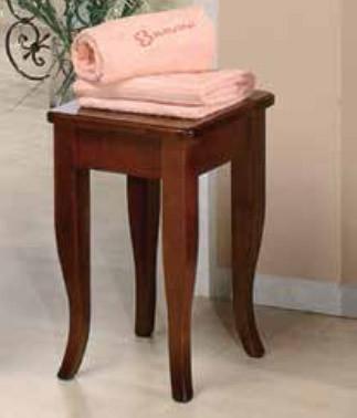 Sgabello in legno finitura arte povera serie doria cm 30x30x48h arredo bagno casa mobili - Sgabello legno bagno ...
