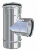 Raccordo a t per tubi stufa a pellet in acciaio inox - Tubi x stufa a pellet ...