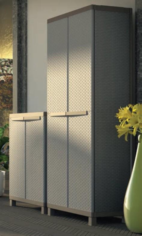 Kit armadio 2 ante in resina effetto polirattan terry mod for Garage con ufficio