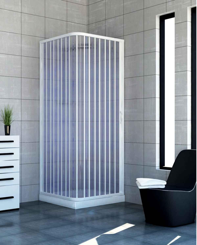 Cabina doccia a soffietto in pvc ad estensione regolabile for Arredo doccia bagno