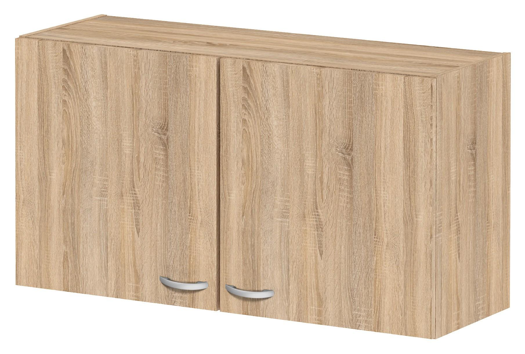 Pensile mobile cucina 2 ante legno finitura quercia cm 98x34x54h Tvilum