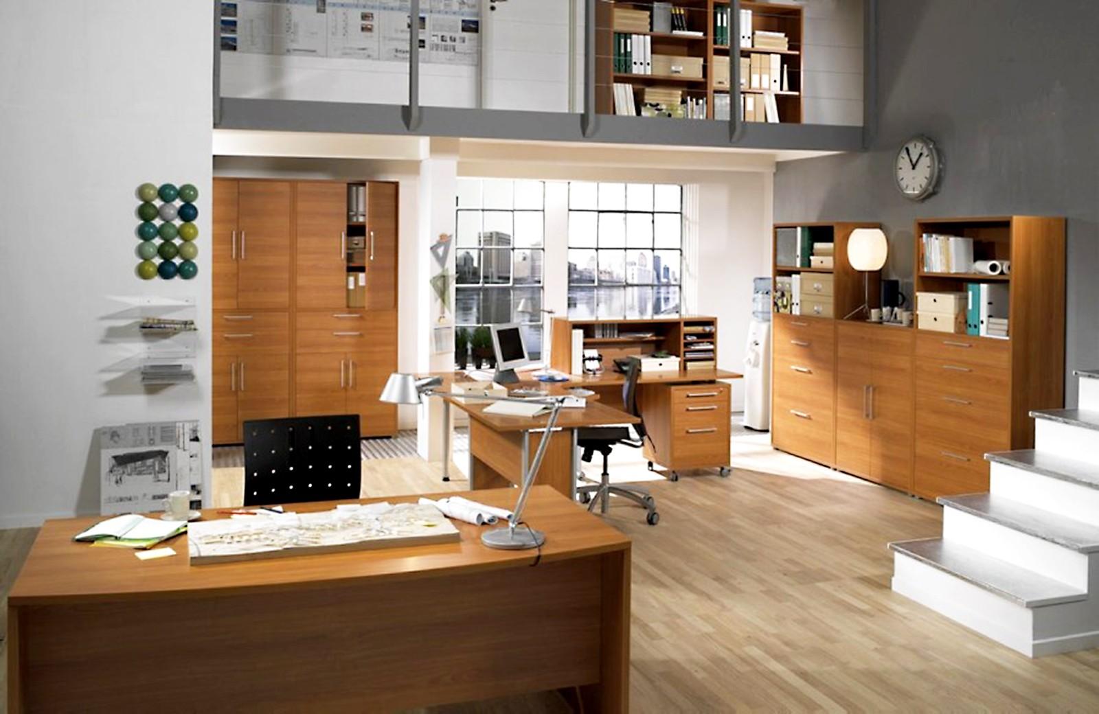 Angolo per scrivania colore ciliegio con gamba - arredo casa ufficio