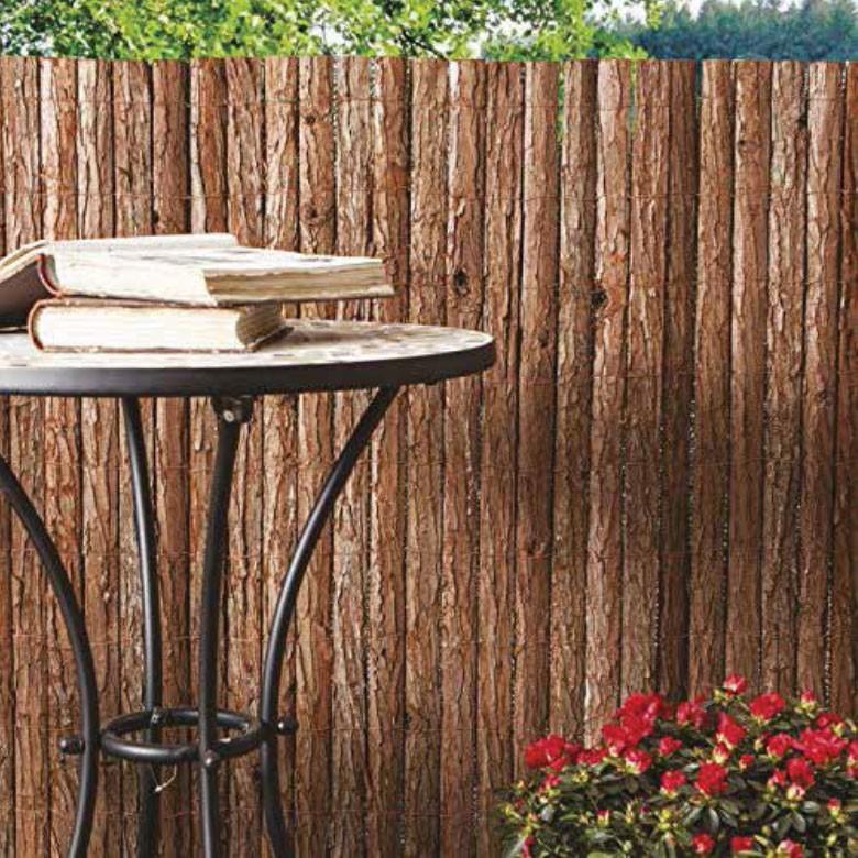 Frangivista in corteccia naturale cm 300x150h per - Recinzione giardino privacy ...