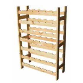 Cantinetta per 42 bottiglie di vino in legno di pino Mod. Bacco cm. 65x25x98h - arredo casa