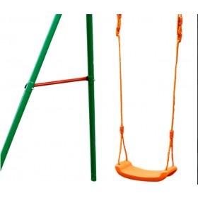 Altalena a 2 tiro in acciaio verniciato gioco per bambini - arredo casa giardino