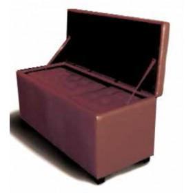 Pouf Mod. Kubo set 3 pezzi con rivestimento in PU rosso cm. 120x50x51h cm. 70x40x40h e cm. 40x40x40h - arredo casa