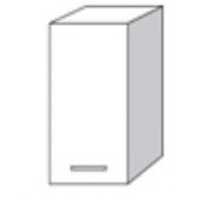 Pensile in kit con anta per cucina finitura larice grigio cm. 40x30x72h - arredo casa mobile