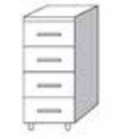 Cassettiera 4 cassetti per cucina finitura larice grigio cm. 40x50x85h - arredo casa mobile