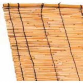 Arelle ombreggianti in canne di bamboo cm. 200x500h per giardino balcone cancello recinzione