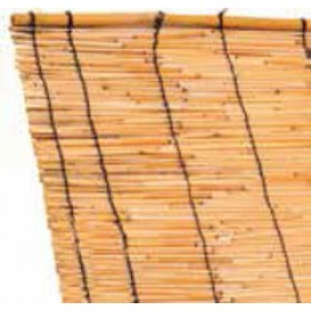 Arelle ombreggianti in canne di bamboo cm. 150x300h per giardino balcone cancello recinzione