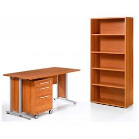 Kit ripiano scrivania Tvilum Linea Prima cm.120x80x2.5h ciliegio - arredo casa ufficio