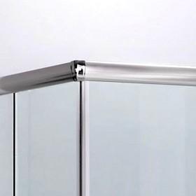 Cabina doccia in cristallo 6 mm ad estensione regolabile cm 74/80 x 94/100 - box arredo bagno