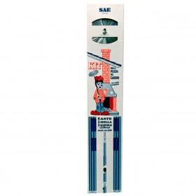 Kit spazzacamino composto da scovolo asta flessibile lunghezza fino a mt. 8.60 - pulizia camino
