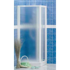 Porta a soffietto in crilex per doccia ad estensione regolabile cm 88/93 Mod. LUSSO - box arredo bagno