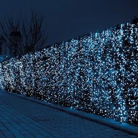 Tenda luminosa 160 luci LED bianco con controller e 8 giochi di luce per uso interno ed esterno - luci albero decori Natale