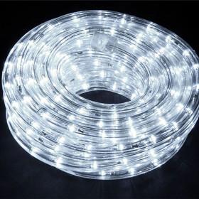 Tubo luminoso LED da 8 ml bianco con giochi di luce flash - luci albero decori Natale