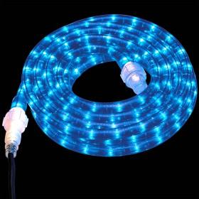 Tubo luminoso LED da 50 ml blu a luce fissa - luci albero decori Natale