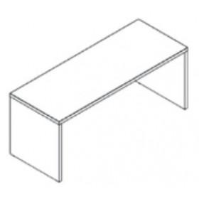 Scrivania Composad rovere grigio cm. 69x180x74h Linea Pratico - arredo casa ufficio