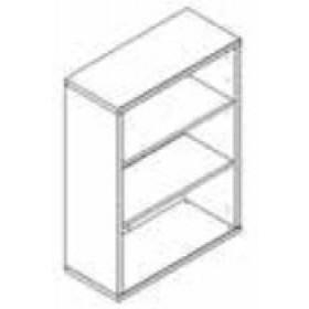 Libreria 3 vani Composad rovere tartufo e laccato bianco lucido cm. 35.5x81.5x112h Linea Disegno - arredo casa ufficio