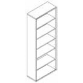 Libreria 6 vani Composad rovere tartufo e laccato bianco lucido cm. 35.5x81.5x217h Linea Disegno - arredo casa ufficio