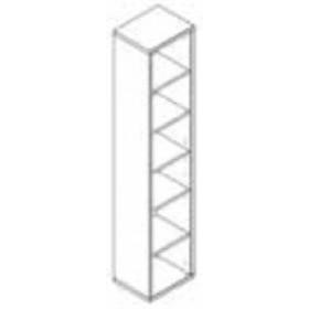 Libreria 6 vani Composad rovere tartufo e laccato bianco lucido cm. 35.5x44x217h Linea Disegno - arredo casa ufficio