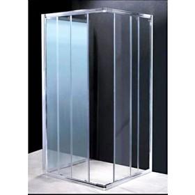 Parete fissa per doccia in cristallo 6 mm ad estensione regolabile cm 74/80 - box arredo bagno