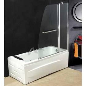 Parete vasca in cristallo 6 mm dimensioni cm 120x140h - box arredo bagno