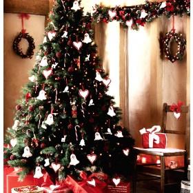 Albero di Natale Mod. Cortina cm. 210 - luci decori feste