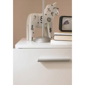 Cassettiera Tvilum a 4 cassetti Mod. Pepe colore bianco cm. 70x40.3x42h - arredo casa letto cassettone