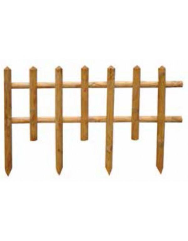 Steccato Mod. Ranch conf. 20 pz. in legno di pino impregnato cm. 85x50 - arredo casa giardino