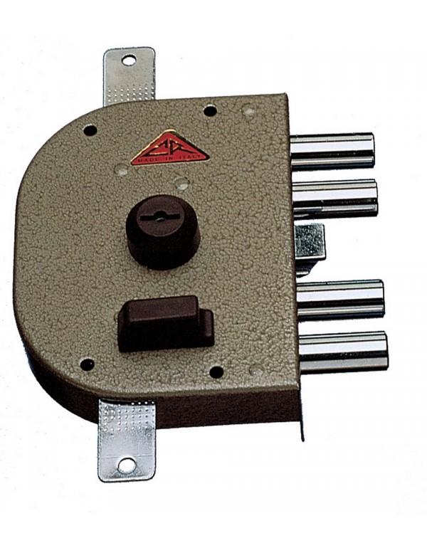 Serratura sicurezza a pompa CR 4 catenacci con chiave mano sinistra