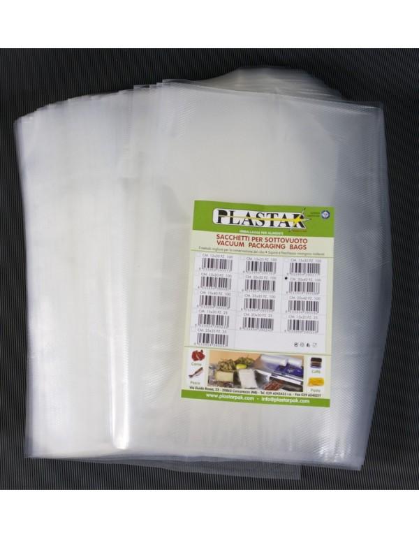Buste goffrate nylon cm 15x30 sacchetti sottovuoto 20 conf da 100 pz