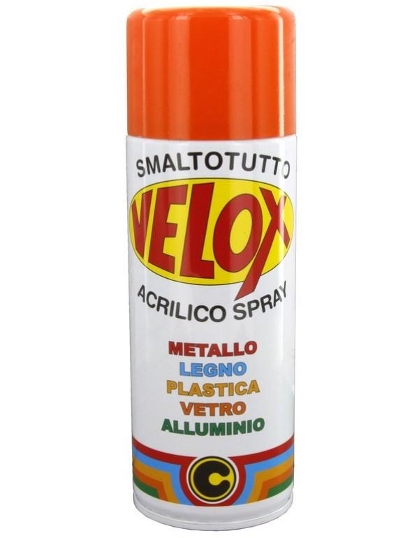 Spray smalto acrilico arancio puro conf 6 bombolette da 400 ml