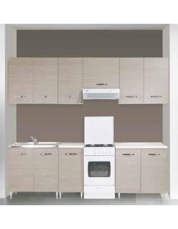 Pensile in kit 2 ante per cucina finitura larice grigio cm. 80x30x72h -  arredo casa mobile