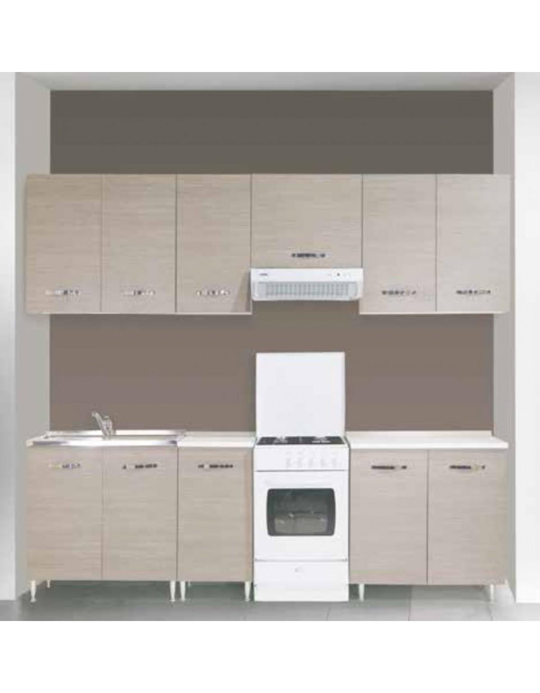 Sottolavello 2 ante per cucina finitura larice grigio cm. 80x50x85h -  arredo casa mobile lavello