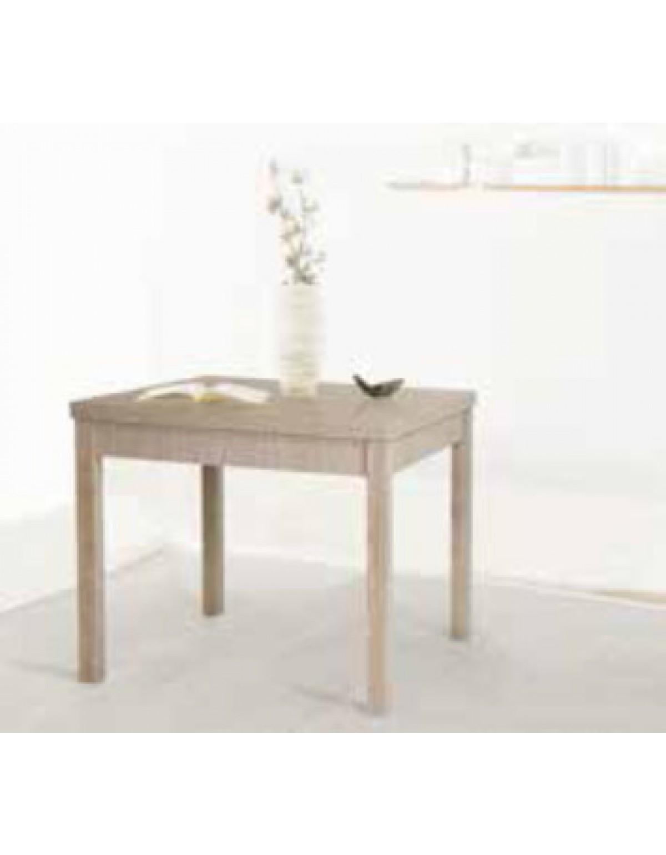Tavolo allungabile in legno Mod. Libro finitura larice grigio cm. 90/180x79  - arredo casa cucina salotto