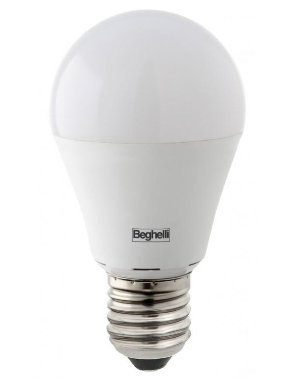Lampadina LED risparmio energetico 10W E27 BEGHELLI GOCCIA luce calda 3000K