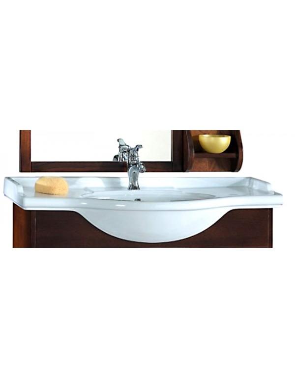 Lavabo in ceramica integrale cm. 105 - Mobile bagno