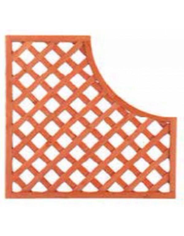 Pannello grigliato sagomato in legno trattato cm. 90x90 modulare - arredo casa giardino balcone