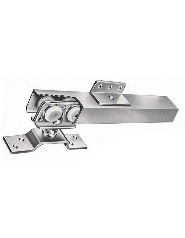 Guide in alluminio 300 cm per porte scorrevoli ante cm 136÷160 max 80 kg