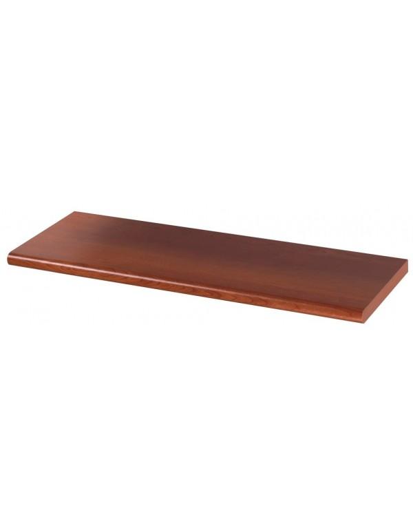 Mensola in legno colore ciliegio cm 120x25x2.5h bordo arrotondato