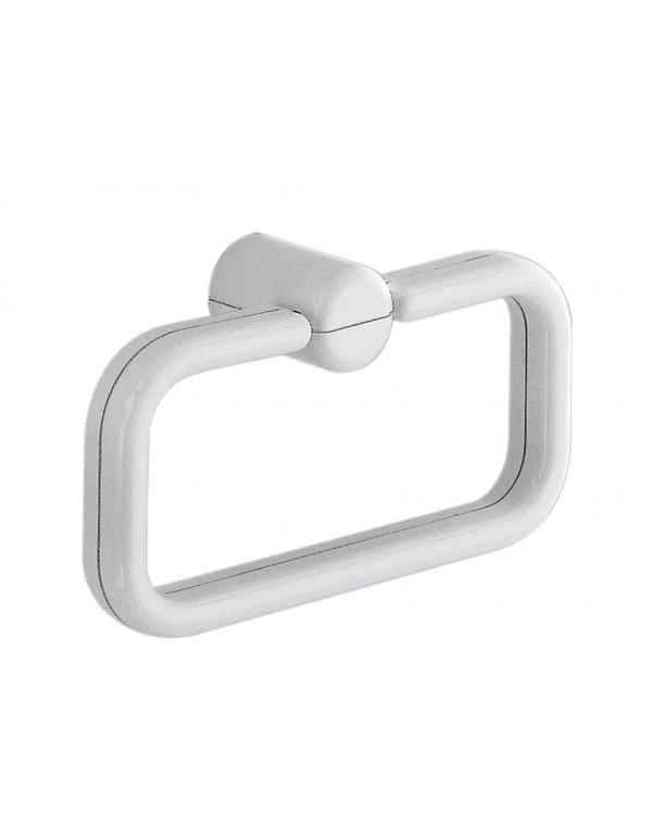 Portasciugamani bagno ad anello in resina bianca - Gedy Art. 2970