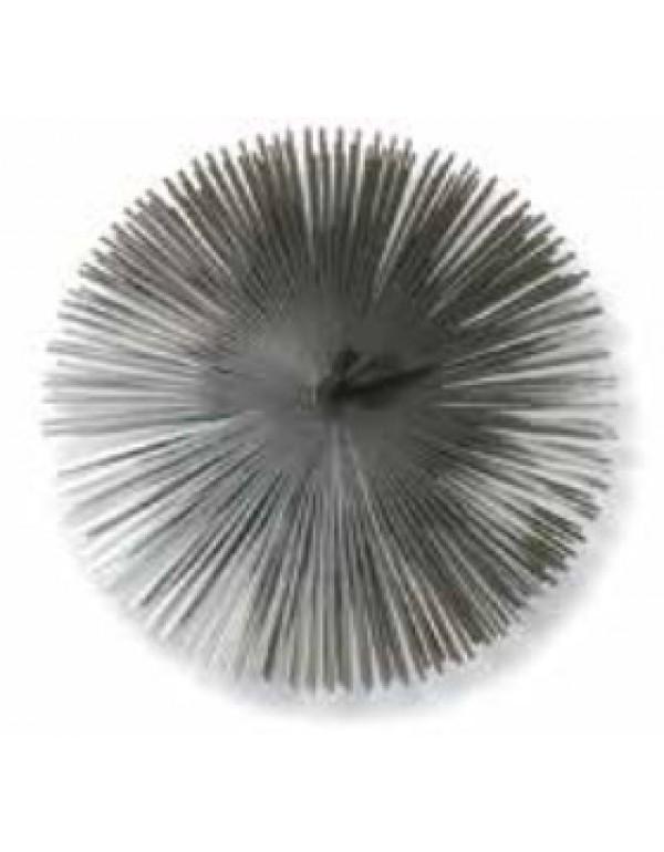 Scovolo tondo in acciaio per camino diametro cm. 25 - casa riscaldamento