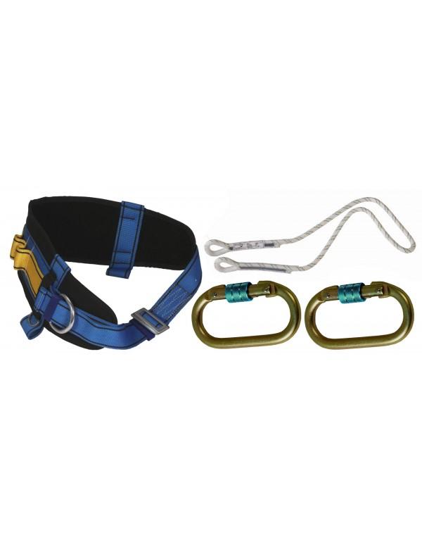 Cinturone di protezione in kit a norma EN completo di accessori