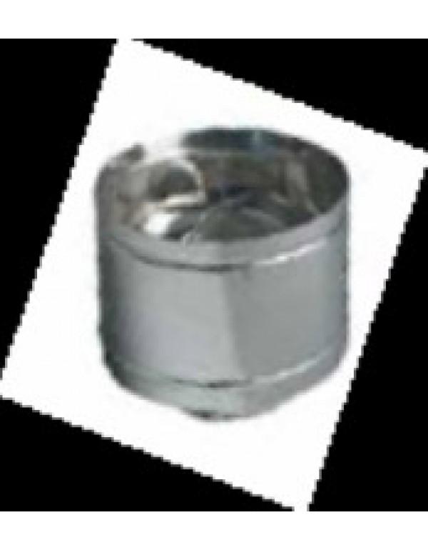 Fumaiolo a botte in acciaio inox attacco tondo diametro cm. 14 - impianto riscaldamento casa stufa