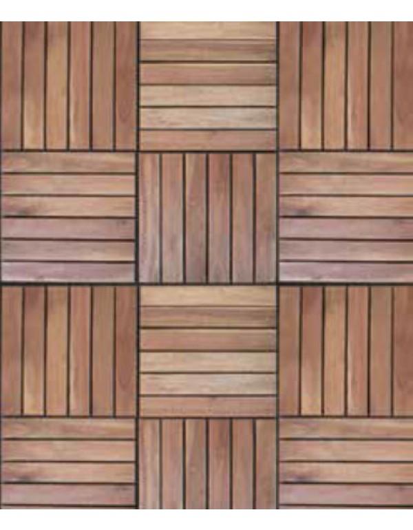 Pavimento a piastrelle in legno balau conf pz 5 su - Incollare piastrelle su legno ...