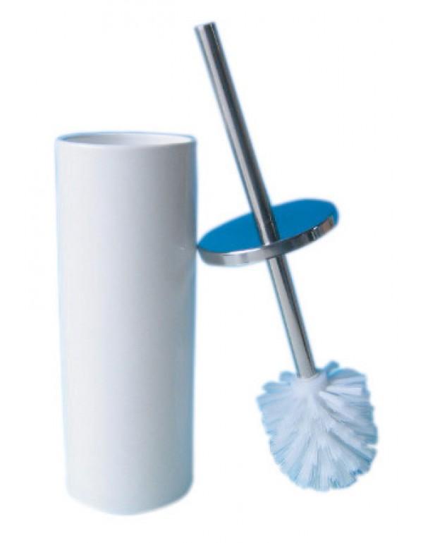 Portascopino bagno in ceramica e metallo - Mod. CILINDRO
