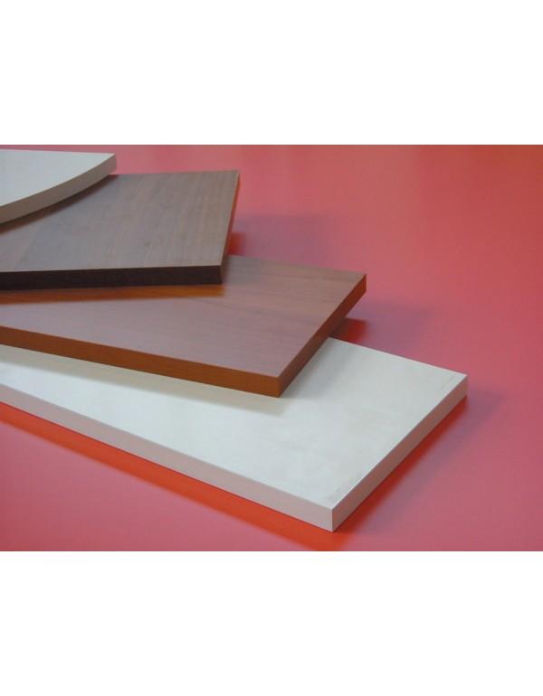 Mensola in legno colore bianco cm 120x40x1.8h bordo squadrato