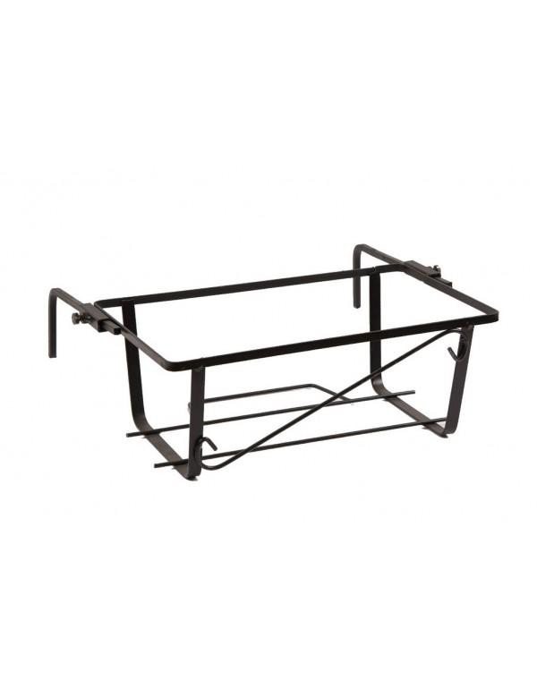 Fioriera da balcone regolabile acciaio nero cm 50 Mod NAPOLI conf 5 pz